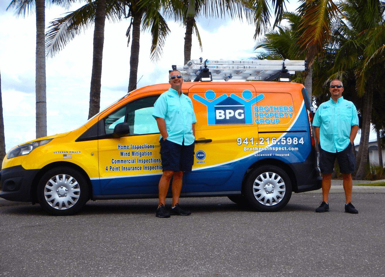 Home Inspectors with van